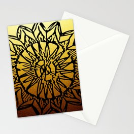 Aztec Sun Tribal Design 1 Stationery Cards