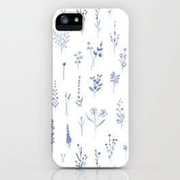 Wildflowers in blue iPhone Case
