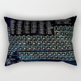 Periodic Table Of The Elements Vintage Chart Black Rectangular Pillow