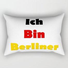 Ich Bin Berliner I am Berlin - German Quote Rectangular Pillow