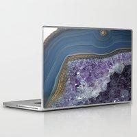 geode Laptop & iPad Skins featuring Amethyst Geode Agate by CAROL HU