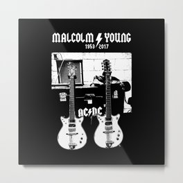 Malcolm Young - AC DC - Guitar - Rock Music - Pop Culture Metal Print