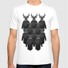 Chorus of Deer MEDIUM White Mens Fitted Tee