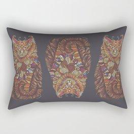 Maine Coon Cat Totem Rectangular Pillow