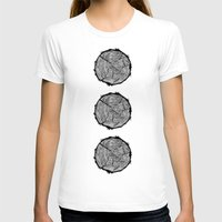 tree rings T-shirts featuring Growing Old - Tree Rings by Courtnduncan