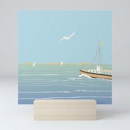 Seascape without sun Mini Art Print