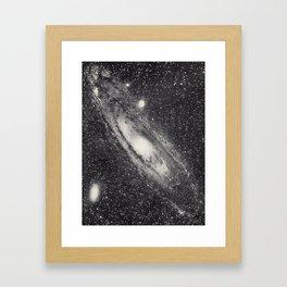 Vintage Astronomy-Nebula M31 Andromeda Framed Art Print