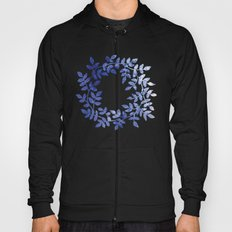 Delicate watercolor pattern with leaves Hoody