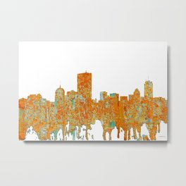 Boston, Massachusetts Skyline - Rust Metal Print