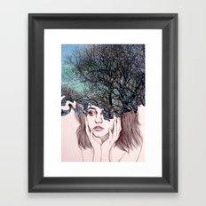 Scatterbrain Framed Art Print
