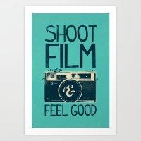 film Art Prints featuring Shoot Film by Victor Vercesi