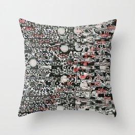 I Blame The Pollen (P/D3 Glitch Collage Studies) Throw Pillow