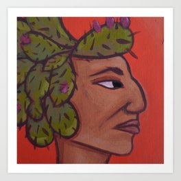 Native Face 5 Art Print