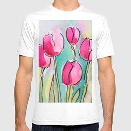 Pink Tulips T-shirt