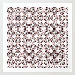 Coca Cola inspired pattern Art Print