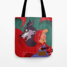 Little Red Riding Hood & The Wolf Tote Bag