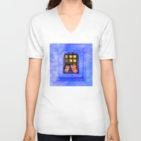 tea V-neck T-shirts featuring Tea by digital2real