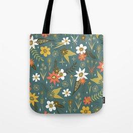 bright fun floral pattern Tote Bag