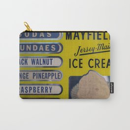 Vintage Ice Cream Sign 2 Carry-All Pouch