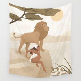 Spirit Animal – Lion Wall Tapestry