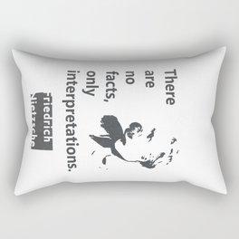 Friedrich Nietzsche quote Rectangular Pillow