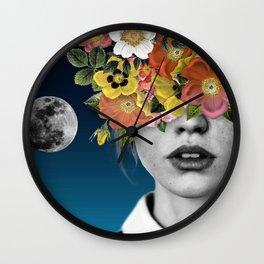 Flower Girl 3 Wall Clock