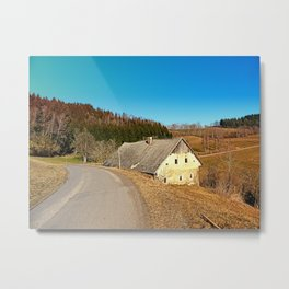Traditional abandoned farmhouse | architectural photography Metal Print