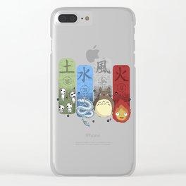 Ghibli Elemental Charms Clear iPhone Case