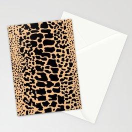 ANIMAL PRINT SNAKE SKIN TAN BROWN AND BLACK PATTERN Stationery Cards