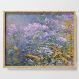 John Henry Twachtman Meadow Flowers Serving Tray