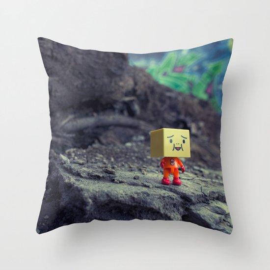 i like it here Throw Pillow