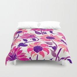 Sunflower Watercolor – Pink & Purple Palette Duvet Cover