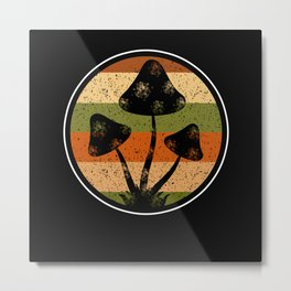 Mushroom Mycology fungir collector Passion Metal Print