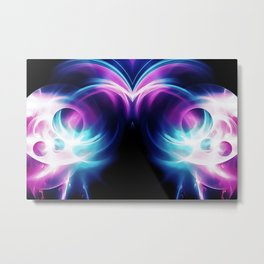 abstract fractals mirrored reacc80 Metal Print