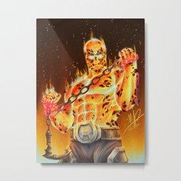 Magma Man Metal Print