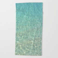 Colors of the Sea Water - Clear Turquoise Beach Towel