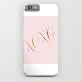 LOVE WALL ART, Xo Print,XoXo,Kiss Print,Kisses And Hugs,Pink And Gold,Gold Foil,Girls Room Decor,Gir iPhone Case