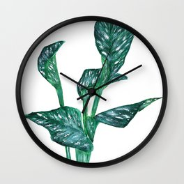 green calla lily Wall Clock