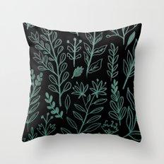 Ghost Botanic Throw Pillow