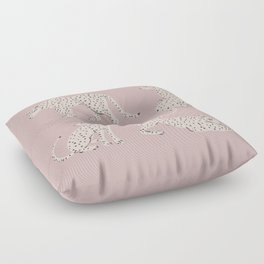 LEOPARD BLOCK PARTY - PINK Floor Pillow