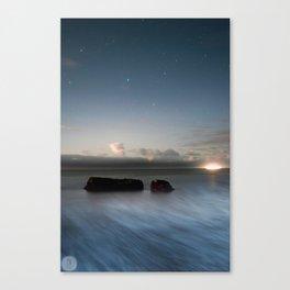 Castle Cove Moonrise Canvas Print