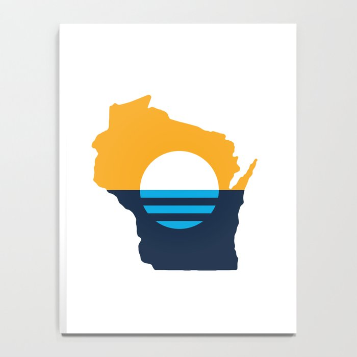 Wisconsin - People's Flag of Milwaukee Notebook