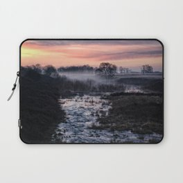 Foggy Sunrise At Chasewater Laptop Sleeve