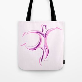 Hold On (White Pink) Tote Bag