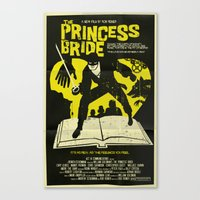 princess bride Canvas Prints featuring The Princess Bride by Mark Welser