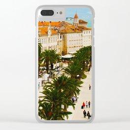 Cityscape of Trogir Croatia Clear iPhone Case