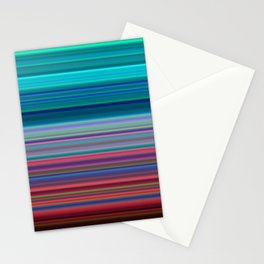 Blurry Saturn Stripes Stationery Cards