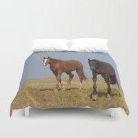 horses Duvet Covers featuring horses by Laake-Photos