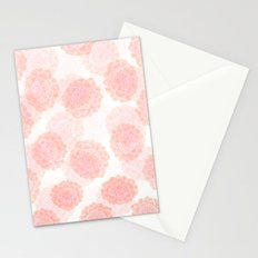 pink succulents Stationery Cards