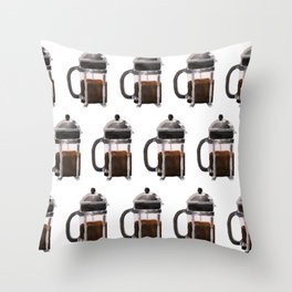 French Press - Brown Throw Pillow